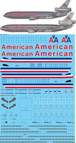 1/144 Scale Decal American McDonnell Douglas DC-10 & MD-11