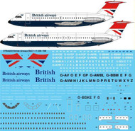 1/144 Scale Decal British Airways BAC 1-11 400 / 500