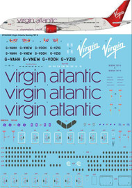 1/144 Scale Decal Virgin Atlantic Boeing 787-9 Dreamliner