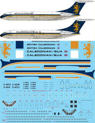 1/144 Scale Decal British Caledonian Vickers VC10