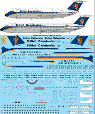 "1/144 Scale Decal British Caledonian ""Final"" BAC 1-11 200 & 500"