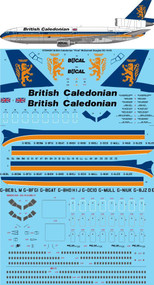 "1/144 Scale Decal British Caledonian ""Final"" McDonnell Douglas DC-10-30"