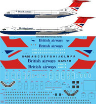 1/144 Scale Decal British Airways Vickers VC10 & Super VC10