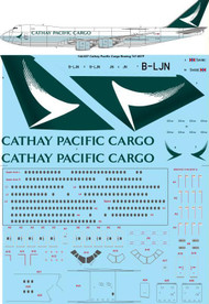 1/144 Scale Decal Cathay Pacific Cargo Boeing 747-867F