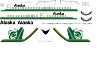 1/144 Scale Decal Alaska Air 727-100 Totem