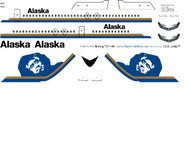 1/144 Scale Decal Alaska Air 727-100 Eskimo