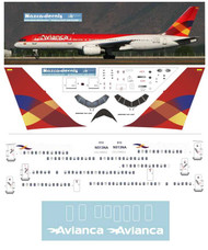 1/144 Scale Decal Avianca B757-200 last scheme