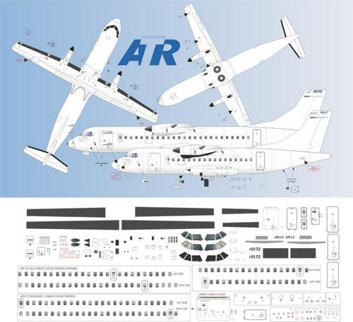 1/144 Scale Decal Detail Sheet ATR-42 / 72