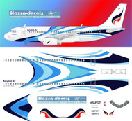 1/144 Scale Decal Bangkok Air A-319