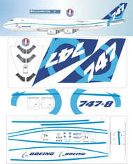 1/144 Scale Decal B747-8F Boeing special factory scheme