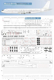 1/200 Scale Decal Detail Sheet 707 / 720