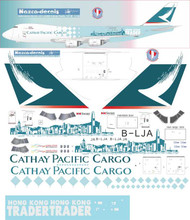 1/144 Scale Decal Cathay Pacific 747-8F Hong Kong City Special Scheme