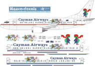 1/144 Scale Decal Cayman Airways 737-300