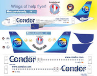 1/144 Scale Decal Condor A-320 Classic Scheme