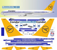 1/144 Scale Decal Condor 767-300 Retro