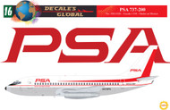 1/144 Scale Decal PSA 737-200