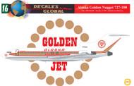 1/144 Scale Decal Alaska 727-100 Golden Nugget