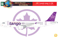 1/144 Scale Decal Air Canada tango A-320