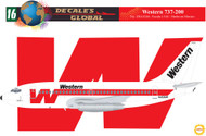 1/144 Scale Decal Western 737-200