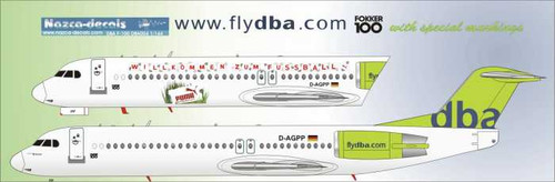 1/144 Scale Decal DBA F-100