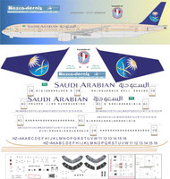 1/144 Scale Decal Saudia 777-300