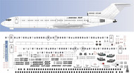 1/200 Scale Decal Detail Sheet 727-200