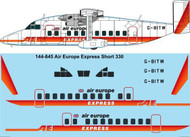 1/144 Scale Decal  Air Europe Express Short 330