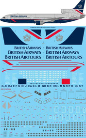 "1/144 Scale Decal British Airways ""Landor"" Lockheed Tristar"
