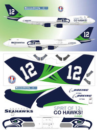 1/144 Scale Decal Boeing 747-8F Spirit of 12s Seahawks