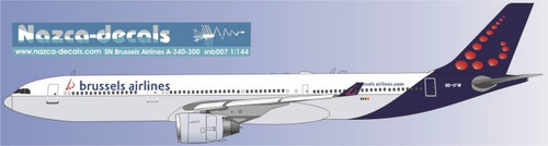 1/144 Scale Decal Brussels Airlines A330-300