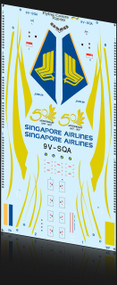 1/200 Scale Decal Singapore 777 50th Anniversary