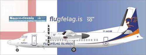 1/100 Scale Decal Flugfélag Islands F- 50