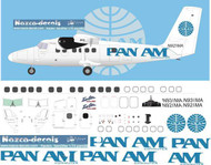 1/72 Scale Decal Pan Am DHC-6 Twin Otter
