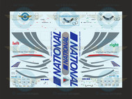 1/144 Scale Decal National Airlines 747-400 with lifelike cabin crew