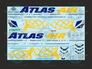 1/144 Scale Decal Atlas Air Passenger 747-400 with lifelike cockpit and passengers