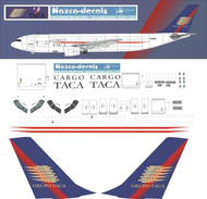 1/144 Scale Decal TACA Cargo A-300