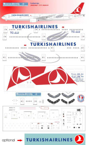 1/144 Scale Decal Turkish Airlines 777-300ER