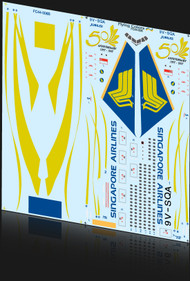 1/144 Scale Decal Singapore 777 50th Anniversary