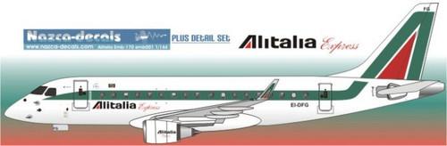 1/144 Scale Decal Alitalia Express Emberair 170