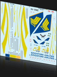 1/144 Scale Decal Singapore 747-400 50th Anniversary