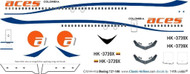 1/144 Scale Decal Aces Columbia 727-100