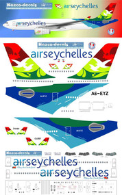 1/144 Scale Decal Air Seychelles A-330
