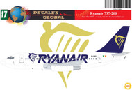 1/144 Scale Decal Ryanair 737-200