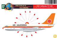 1/144 Scale Decal Air California 737-200 ORANGE
