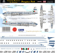 1/144 Scale Scale Decal Mexicana DC-6 50's