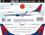 1/144 Scale Decal Delta 737-800