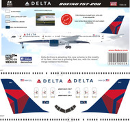 1/144 Scale Decal Delta 757-200