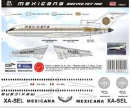 1/144 Scale DecalMexicana 727-100 Azteca de Oro