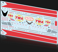 1/144 Scale Decal TWA 747-100 Twin Globes