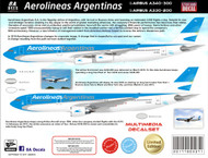 1/144 Scale Decal Aerolineas Argentinas A340/330